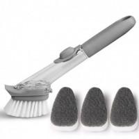 Щетка с дозатором для чистки посуды CLEANER BRUSH