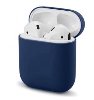 Силиконовый чехол Case Ultra Slim для наушников Airpods/Аналогов (Midnight Blue)