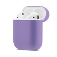 Силиконовый чехол Case Ultra Slim для наушников Airpods/Аналогов (Purple)