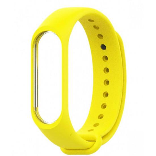 Ремешок для фитнес-трекера Xiaomi Mi Band 3/4 (Желтый)