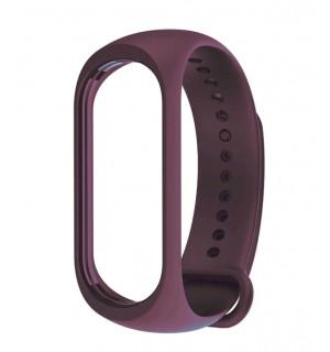 Ремешок для фитнес-трекера Xiaomi Mi Band 3/4 (Темно-фиолетовый)