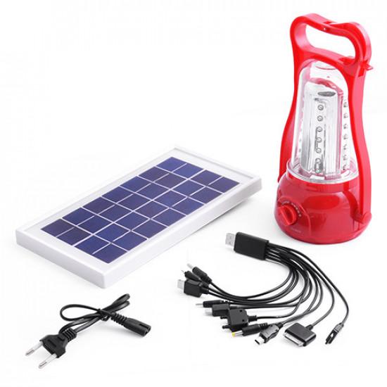 Фонарь лампа 5833, 35LED, солнечная батарея, ЗУ 220V, встроенный аккумулятор