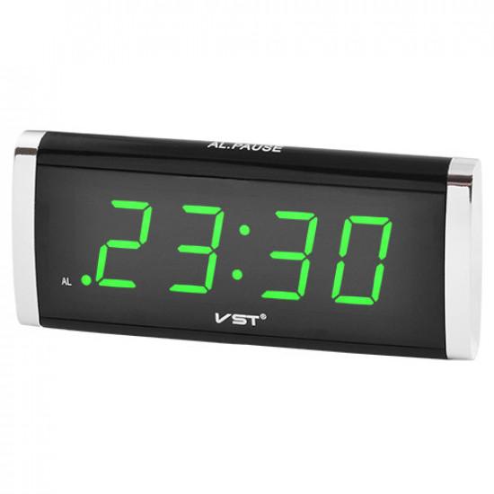 Часы сетевые VST-730-4 салатовые, 220V