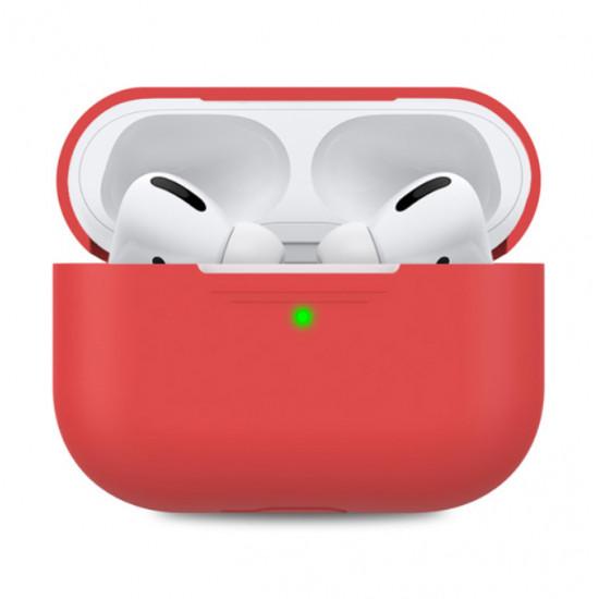 Силиконовый чехол Case Airpods PRO (Красный)