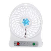 Настольный мини вентилятор Snowflake fan (Белый)