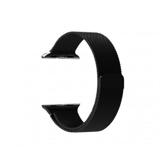 Ремешок Milanese Loop Миланская петля 42/44 (Черный)