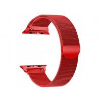 Ремешок Milanese Loop Миланская петля 42/44 (Красный)