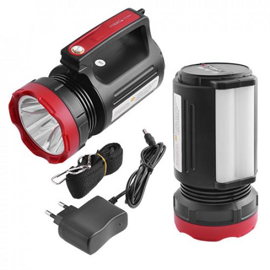 Фонарь переносной Lumen 2895-5W+20SMD, ЗУ 220V, встроенный аккумулятор, power bank