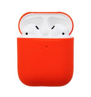 Силиконовый чехол Case Ultra Slim для наушников Airpods/Аналогов (Nectarine)