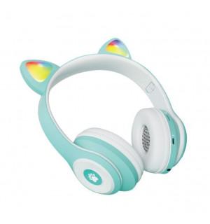Беспроводные детские наушники Cat Ears CT930 LED (Голубой)