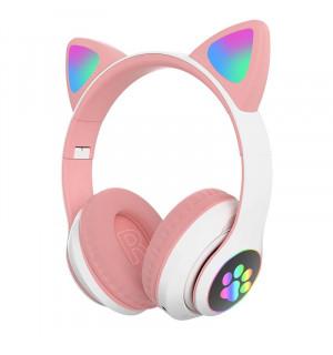 Беспроводные детские наушники Cat Paws STN28 (Розовый)