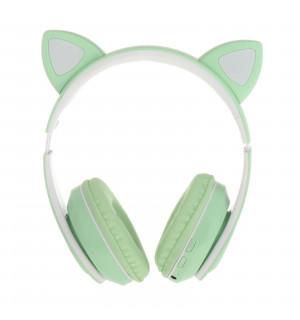 Беспроводные детские наушники Cat Ears P39 (Зеленый)