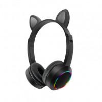 Беспроводные детские наушники Cat Ears K24 LED (Черный)