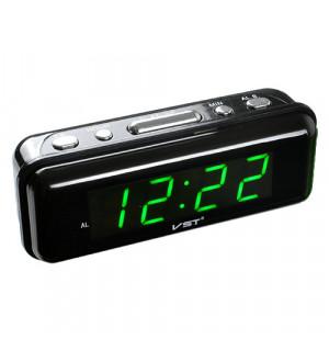 Часы сетевые VST-738-4 салатовые, 220V