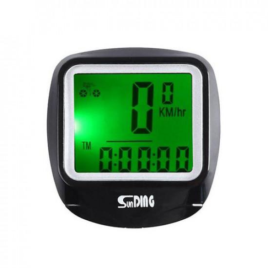 Велокомпьютер SD-568 с подсветкой экрана, waterproof, 23 функции (блистер)