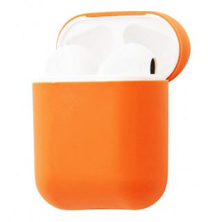 Силиконовый чехол Case Ultra Slim для наушников Airpods/Аналогов (New Peach)