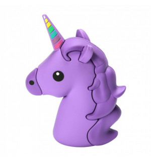 Power Bank Emoji Unicorn Violet (8800mАh) USB 1x1A