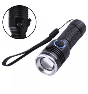 Фонарь Small Sun R841-XPE, ЗУ micro USB, 1х14500 (1xAA), zoom, ремешок на руку, Box