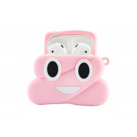 Чехол для наушников AirPods Poop Розовый