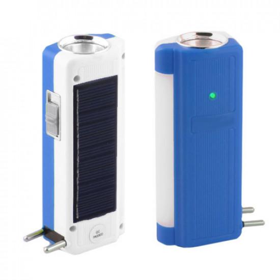 Фонарь Lumen 1031 T, 1W+9SMD, солнечная батарея, ЗУ 220V, встроенный аккумулятор