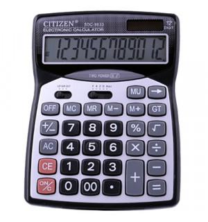 Калькулятор CITIZEN 9833, двойное питание