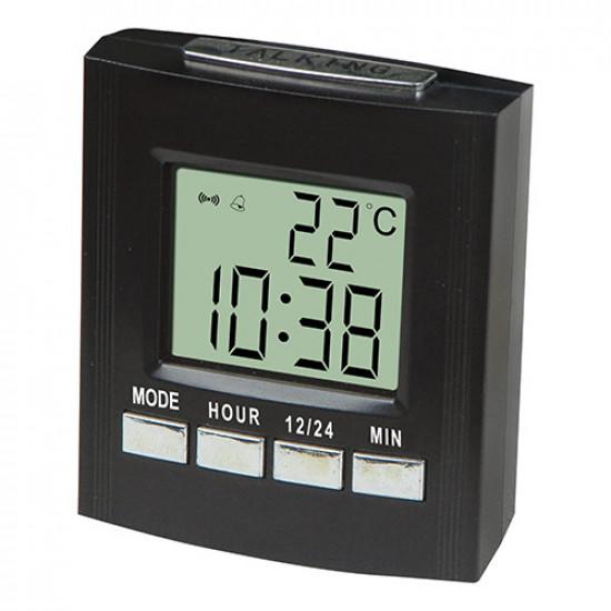 Часы электронные говорящие 7027С, 2*AA