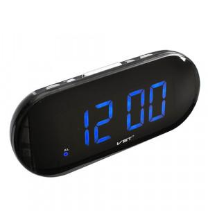Часы сетевые 717-5 синие, 220V