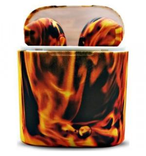 Беспроводные камуфляжные наушники TWS i7s (Fire)