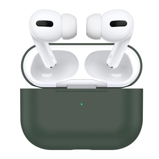 Силиконовый чехол Airpods PRO (Midnight green)