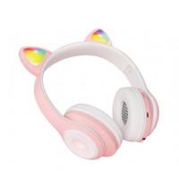 Беспроводные детские наушники Cat Ears CT930 LED (Розовый)