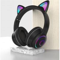 Беспроводные детские наушники Cat Ears K26 LED (Черный)