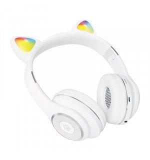 Беспроводные детские наушники Cat Ears CT930 LED (Белый)