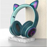 Беспроводные детские наушники Cat Ears K26 LED (Зеленый)