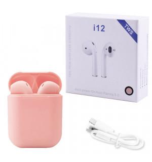 Беспроводные наушники TWS i12 (Розовый)