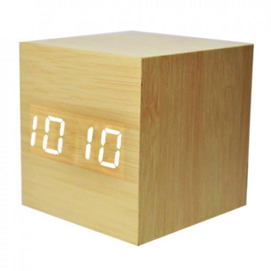 Часы сетевые VST-869-6 белые, температура, USB