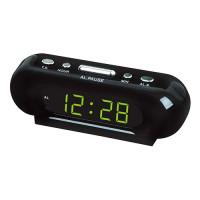 Часы сетевые VST-716-2 зеленые, 220V