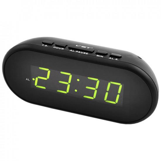 Часы сетевые VST-712-2 зеленые, USB