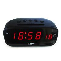 Часы сетевые VST-803-1 красные, температура, 220V