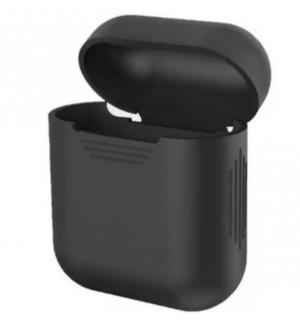 Силиконовый чехол для наушников Case Airpods/Аналогов (Черный)