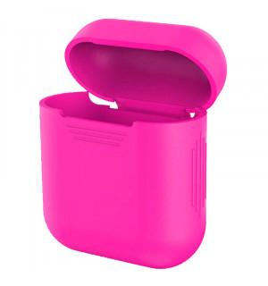 Силиконовый чехол для наушников Case Airpods/Аналогов (Розовый)