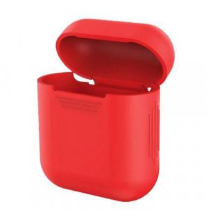 Силиконовый чехол для наушников Case Airpods/Аналогов (Красный)