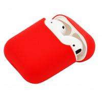 Силиконовый чехол Case Ultra Slim для наушников Airpods/Аналогов (Peach)