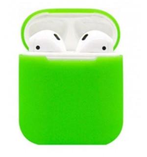 Силиконовый чехол Case Ultra Slim для наушников Airpods/Аналогов (Green)