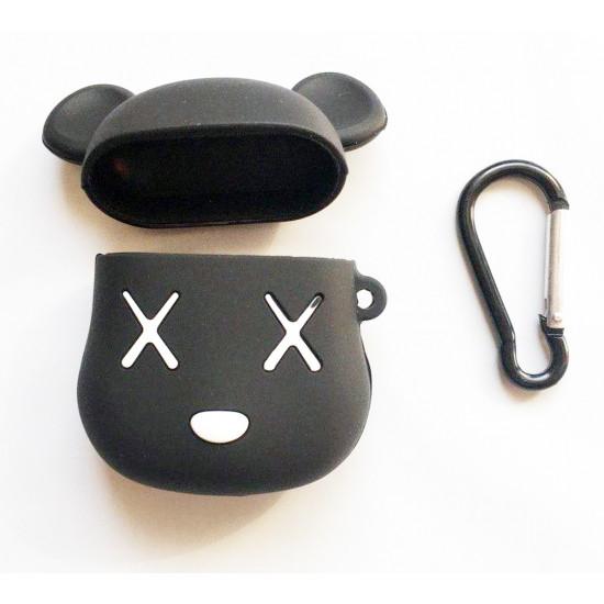 Силиконовый чехол для наушников Case AirPods Emoji (Deadmouse Черный)