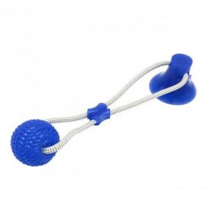Игрушка для собак канат на присоске с мячом (WM-60)