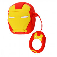 Силиконовый чехол для наушников Case AirPods Emoji (Ironman)