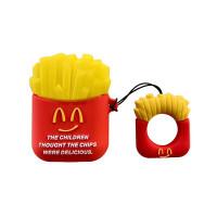 Силиконовый чехол для наушников Case AirPods Emoji (McDonalds)