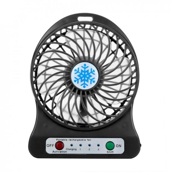 Настольный мини вентилятор Snowflake fan B (Черный)